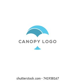 Abstract Canopy Logo Design Vector Template