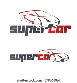 abstract car design concept automotive topics vector logo design template, super car logo for car rental luxury cars