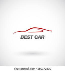 Abstract car  logo design template