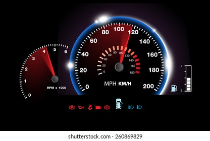 abstract car speedometer background vector