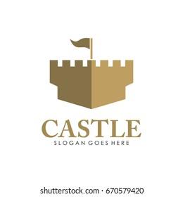 Abstract castle logo design vector