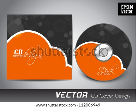 abstract cd cover design template vector illustration stock vector