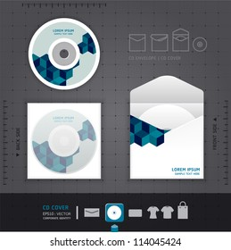 Abstract CD  Design template / corporate identity design for business set / vector illustration