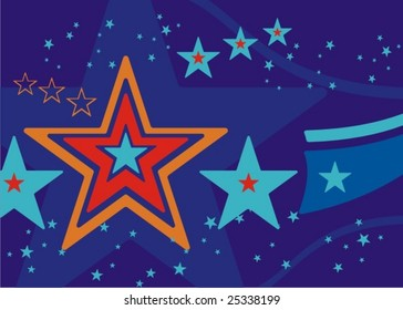 Abstract celebration related background with stars and stripes, vector illustration series.