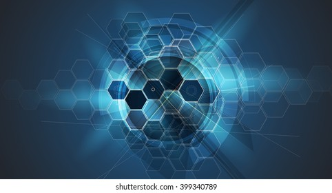 Abstract cell background. Medicine and science research. Vector resolution
