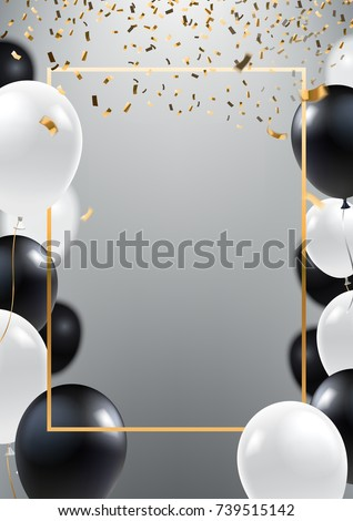 Abstract Ceremonial Silver Background Black White Stock Vector