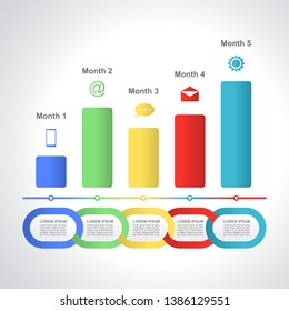 Abstract Chart Graph Business Infographic Design Template Presentation