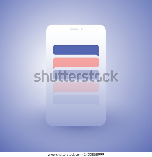 Abstract Chat App Design Concept Global Stock Vector Royalty Free 1433858999