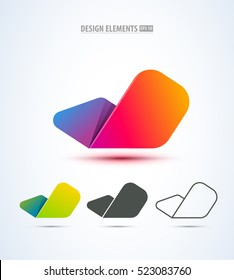 Abstract check mark logo design collection. Can be used for branding, application icon, corporate identity sign.