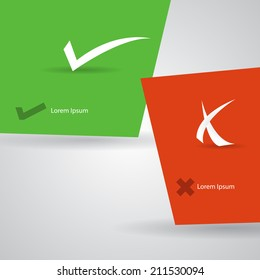 Abstract check marks template.