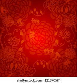 abstract chinese new year background vector design