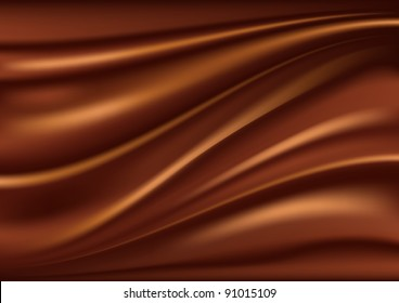 Abstract chocolate background, brown abstract satin, mesh vector illustration