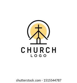 Abstract christian cross logo design vector template / cross symbol vector design template download