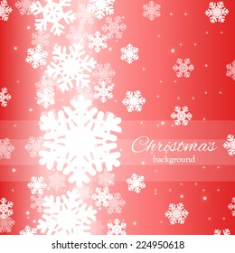Abstract Christmas background for card, invitation and web design with snowflakes and place for text
