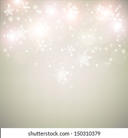 Abstract Christmas background with snowflakes and place for text.