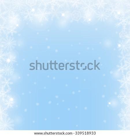 abstract christmas light blue border background のベクター画像素材