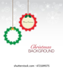 Abstract Christmas and New Year background. Vector illustrator