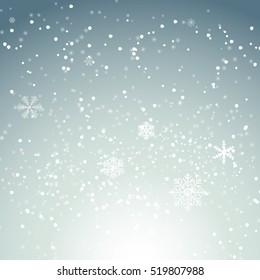Abstract Christmas and New Year Wave Background with Lights. Vector Illustration EPS10
