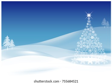 Abstract Christmas tree with beautiful  background vector design