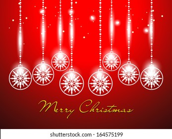 Abstract Christmas vector illustration with shiny color background.
