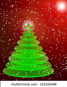 abstract Christmas vector illustration Christmas tree