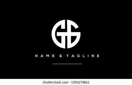 Abstract Circle alphabet logo GG