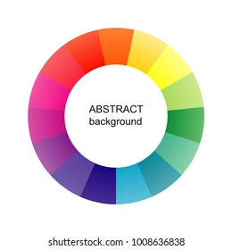 Abstract circle background. Vector colorful pattern.