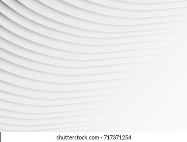 abstract circle blank paper white and gray tone vector background, wave overlapping with shadow modern concept