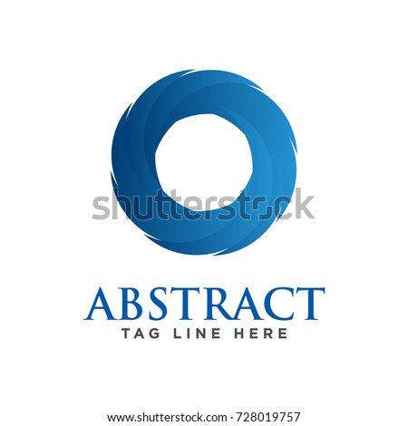 abstract circle business logo template stock vector royalty free