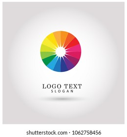 Abstract Circle & Color Spectrum Logo. Symbol & Icon Vector Template