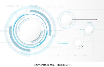 Abstract Circle digital technology background, futuristic structure elements background design