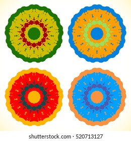 Abstract circle element set. Geometric circle shapes.