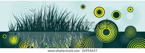 Abstract circle floral design, vector series.
