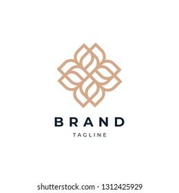 Abstract Circle Floral Logo Design Template