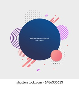 Abstract circle geometric design and background. Use for modern design. vector illustration. shapes.