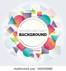 Abstract circle geometric pattern design and background. Use for modern design, cover, template, decorated, brochure, flyer. Abstract Colorful Shapes Banner Background