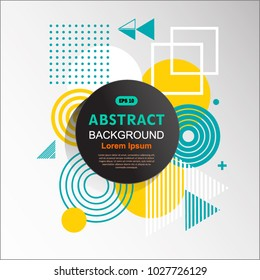 Abstract circle geometric pattern design and background. Use for modern design,  template, decorated, brochure and cover.