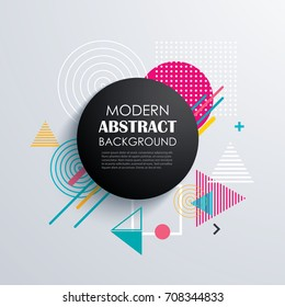 Abstract circle geometric pattern design and background. Use for modern design, cover, template, decorated, brochure, flyer.