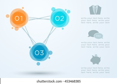 Abstract Circle Infographic Connected 1 to 3