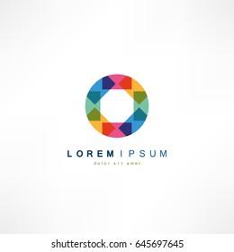 Abstract circle logo.