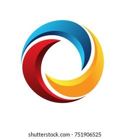 Abstract Circle Logo Template