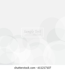 Abstract Circle Pattern On Gray Background. Vector