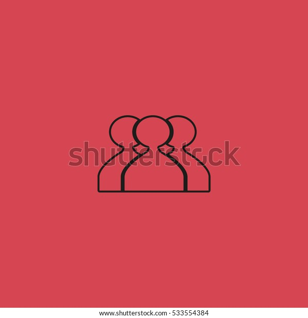 abstract circle of people icon