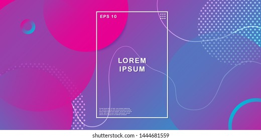 Abstract circle with purple background. Wavy geometric background. Trendy gradient shapes composition. Minimal geometric background with gradient color. Vector