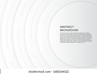 Abstract circle shape background design color white style with space for text. vector illustration.