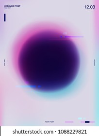 Abstract circle soft gradient poster