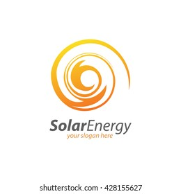 Abstract Circle Solar Energy and Renewable Technology Logo
