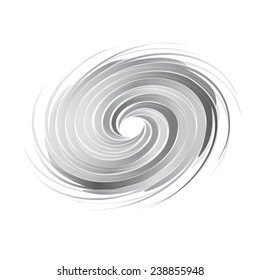 Abstract circle swirl image. Concept of hurricane, twister, tornado. Vector icon
