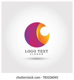 Abstract Circle Symbol & Icon Logo Vector Template