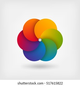 abstract circle symbol in rainbow colors. vector illustration - eps10